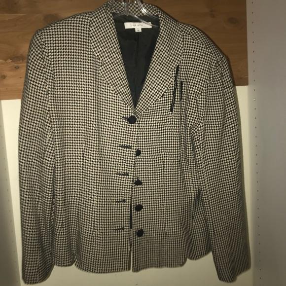 Vintage Jackets & Blazers - VINTAGE Rex Lester Black&White Blazer